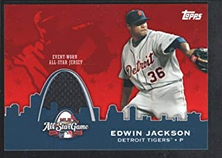 BIGBOYD SPORTS CARDS Edwin Jackson 2009 Topps All Star #AST39 Game Jersey Detroit Tigers SP