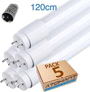 LED Atomant Pack 5x Tubo LED 120 cm 18w, 360 Grados, 18 W, B