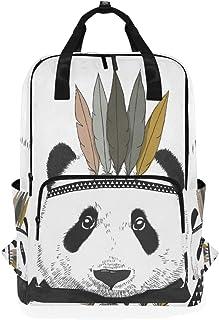MONTOJ Mochila de Viaje India Panda Mochila Escolar