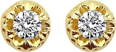 MILLE AMORI ∞ Orecchini Donna Oro e Diamanti ∞ Oro Bianco o Giallo 9 Carati 375 Diamante 0,36 Carati ∞ Collezione Diadema + Luce + Volume