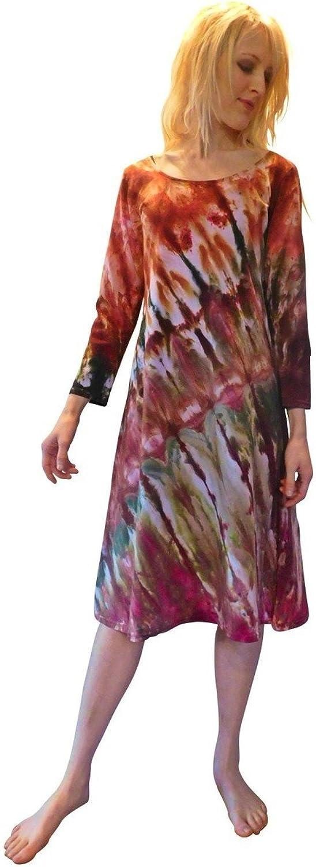 Martha Ice Tye Dye Midi Dress Autumn