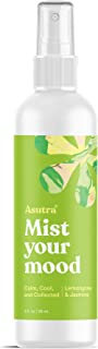 ASUTRA Lemongrass & Jasmine Organic Essential Oil Blend, Aromatherapy Mist, 4 fl oz | for Face, Body, Rooms, Linens | Promotes Calm & Positive Feelings | Filters Out Negative Energy