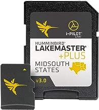 Humminbird LakeMaster Plus Mid-South States Edition Digital GPS Lake and Aerial Maps, Micro SD Card, Version 3