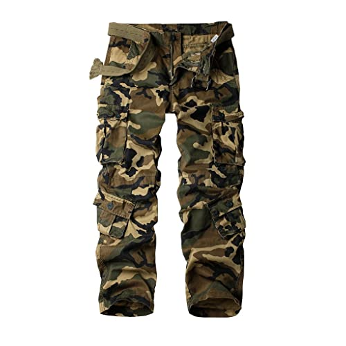 87776d7b3b1 AKARMY Must Way Men s Cotton Casual Military Army Cargo Camo Combat Work  Pants with 8 Pocket