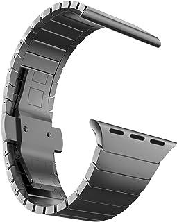 MaKTech Correa de Eslabones de Acero Inoxidable Metal Pulsera Brazalete Compatible con Apple Watch Serie 6/SE/5/4/3 (44mm/...