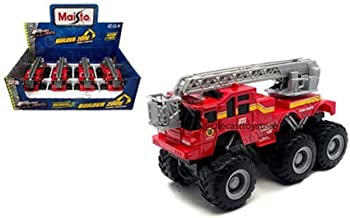 MAISTO FRESH METAL DISPLAY BUILDER ZONE QUARRY MONSTERS FIRE TRUCK 8