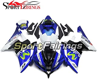 Sportbikefairings Blue 46 Injection ABS Plastic Motorcycle Fairing Kit For Yamaha YZF600 R6 2008-2013 2014 2015 2016 Full Cowlings