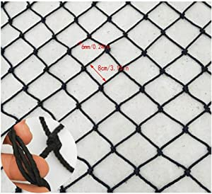 Children Fall Protection Safety Net Black Indoor Rope Net Balcony Stair Anti-fall Net Child Protection Net Pet Safety Net Bird Rope Net Cargo Net Decoration Net Restaurant Ceiling Net Size 1x2m