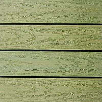 NewTechWood Ultrashield Naturale Outdoor Composite Quick Deck Tile in Canadian Maple (10 Case)