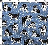 Husky, Welpe, Hund, Schnee, Hunde Stoffe - Individuell