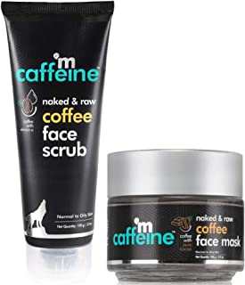 mCaffeine Oil-Control Coffee Face Tan Kit   Blackheads Removal   Face Scrub, Face Mask/Pack   Oily/Normal Skin   Paraben &...