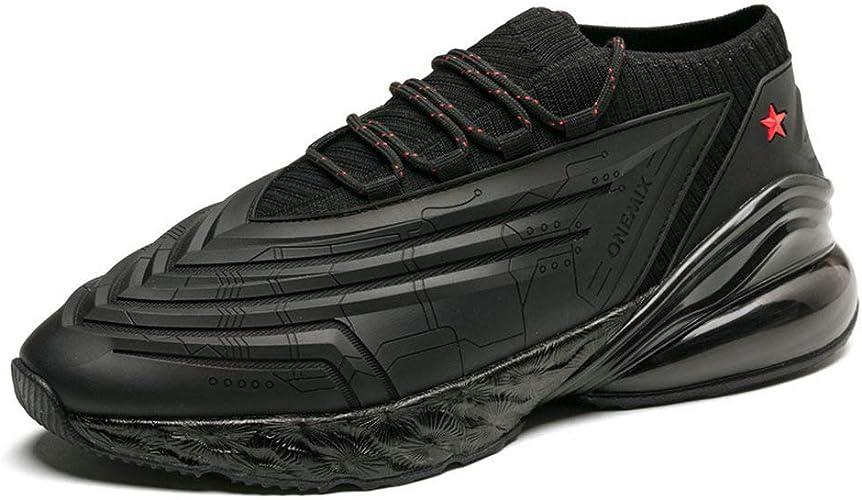 ONEMIX Chaussures de Sport pour Homme Coussin d'air - Noir - Noir, 36.5 EU