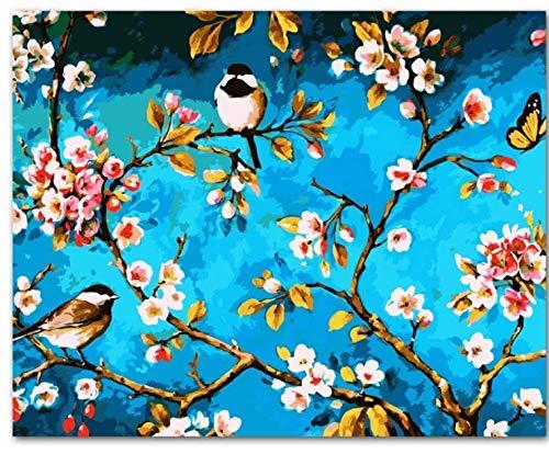 Pintura Diy De Emisión Por Números Pintura Acrílica Por Números Pintada A Mano Pintura Al Óleo Sobre Lienzo Para La Decoración Casera Con Marco 40x50cm