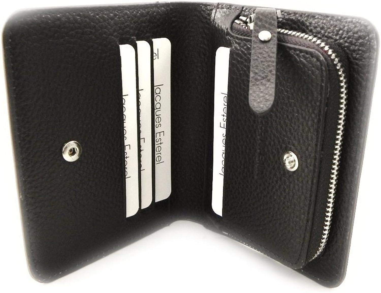 Leather wallet  Jacques Esterel  brown (+ cards).