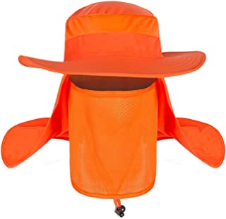 Men Women Fishing Sun Hat with Removable Neck Face Flap Sun Hat Waterproof Bucket  Hat Breathable 958347176240