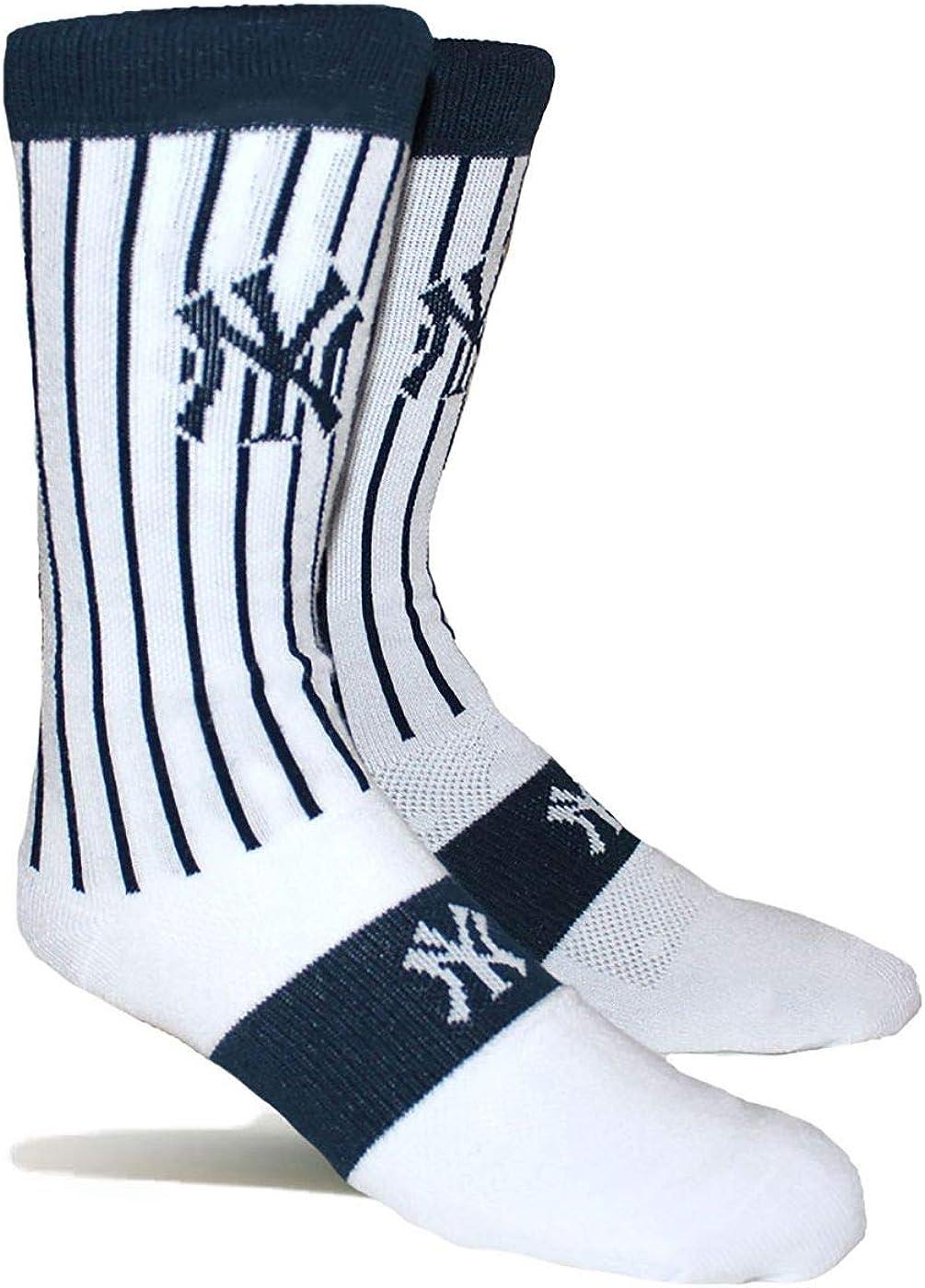 PKWY Unisex 1-Pack Yankees Baseball Team Crew Socks
