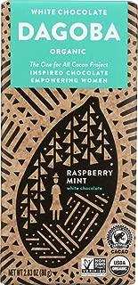 Dagoba Organic Raspberry Mint White Chocolate, 2.83 Oz