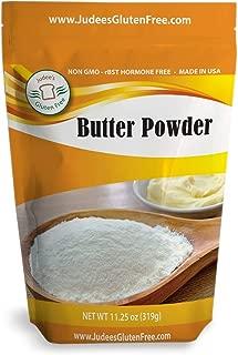 Judee's Pure Butter Powder (11.25 Oz) Non-GMO - Hormone Free - USA Produced. Keto Friendly, Add Fat to Coffee (1.5 lb Size Also)