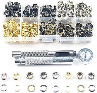 Bestgle 100 piezas Kit de Herramienta de Ojetes di/ámetro interior 10 mm con Herramienta de Montaje de Arandela Ojetes Metalicos para Lonas Toldos Cuero Diy