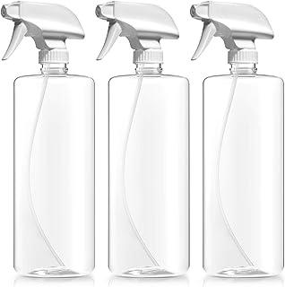 BAR5F Plastic Spray Bottle, BPA Free, 32 oz, Crystal Clear, N7 Sprayer - Spray/Stream/Off