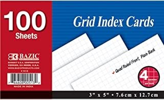 $33 » BAZIC Quad Ruled Index Card, 3 X 5 Inches, White, 100 Count (36 Pack)