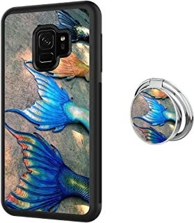 Case for Samsung Galaxy S9 case Mermaid Tail With Ring Holder Slim Soft TPU and Hard Tire Shockproof Protective Phone Cover Case Slim Hybrid Shockproof Protective Phone Case Anti-Scratch Cushion Bumpe