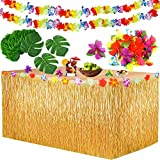 Yojoloin Hawaii Party Dekoration Kit 39 Pcs,Hawaii Luau Tischröcke 9ft, Hawaiianische...