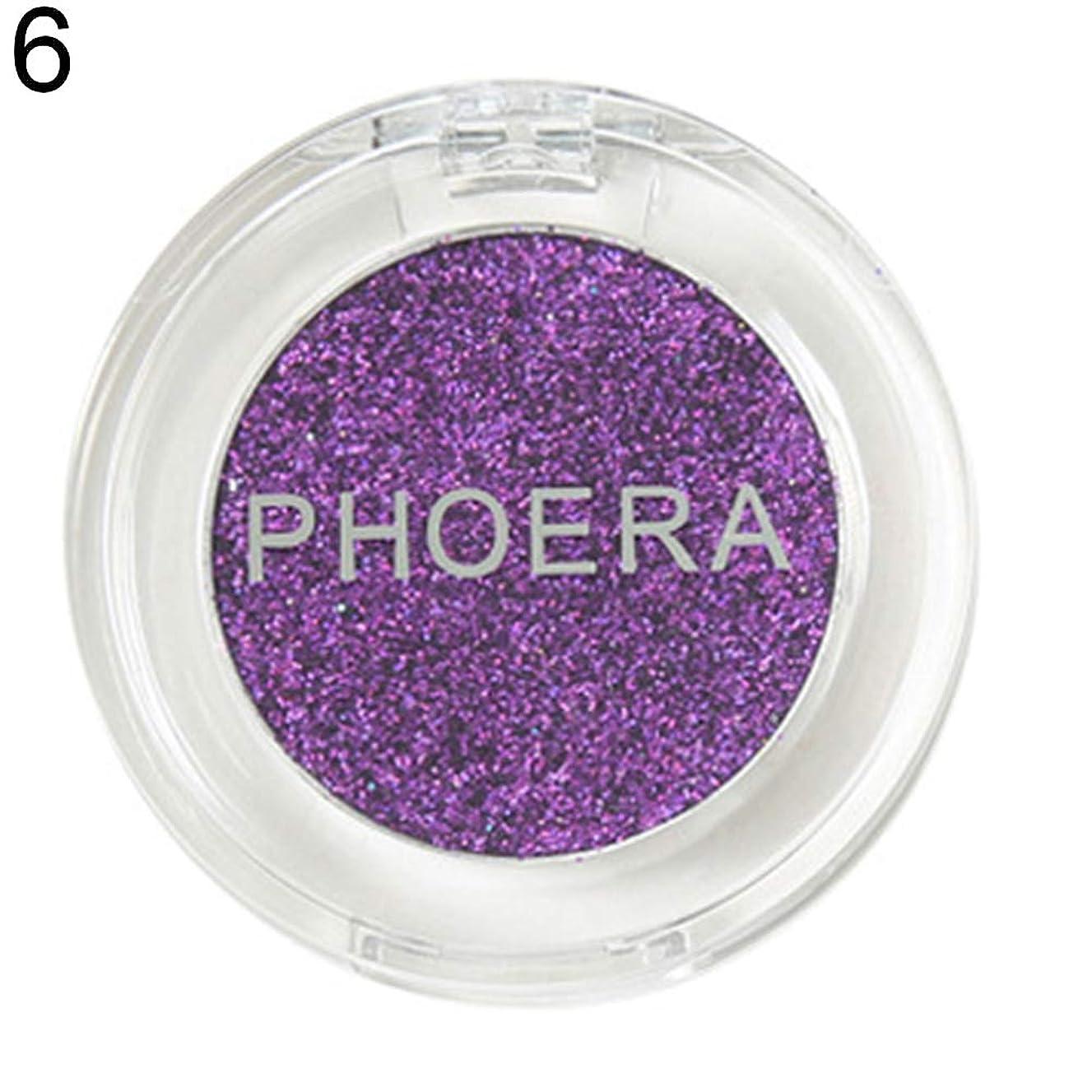 wewa98698 PHOERA Shimmer Sequins Eyeshadow Powder Glitter Long Lasting Brightening Makeup for Women - 6