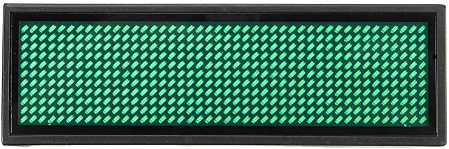 Mini Led Digital Programmable Rechargeable Scrolling Message Tag Badge Sign Rechargeable Led Name Tag For Event (Green)