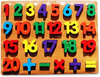 Numbers Puzzle Board Wooden Educational Baby Toddler Toy