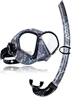 Tilos Spawn Camo Mask Snorkel Set for Spearfishing, Free Diving, Scuba Diving, Snorkeling …