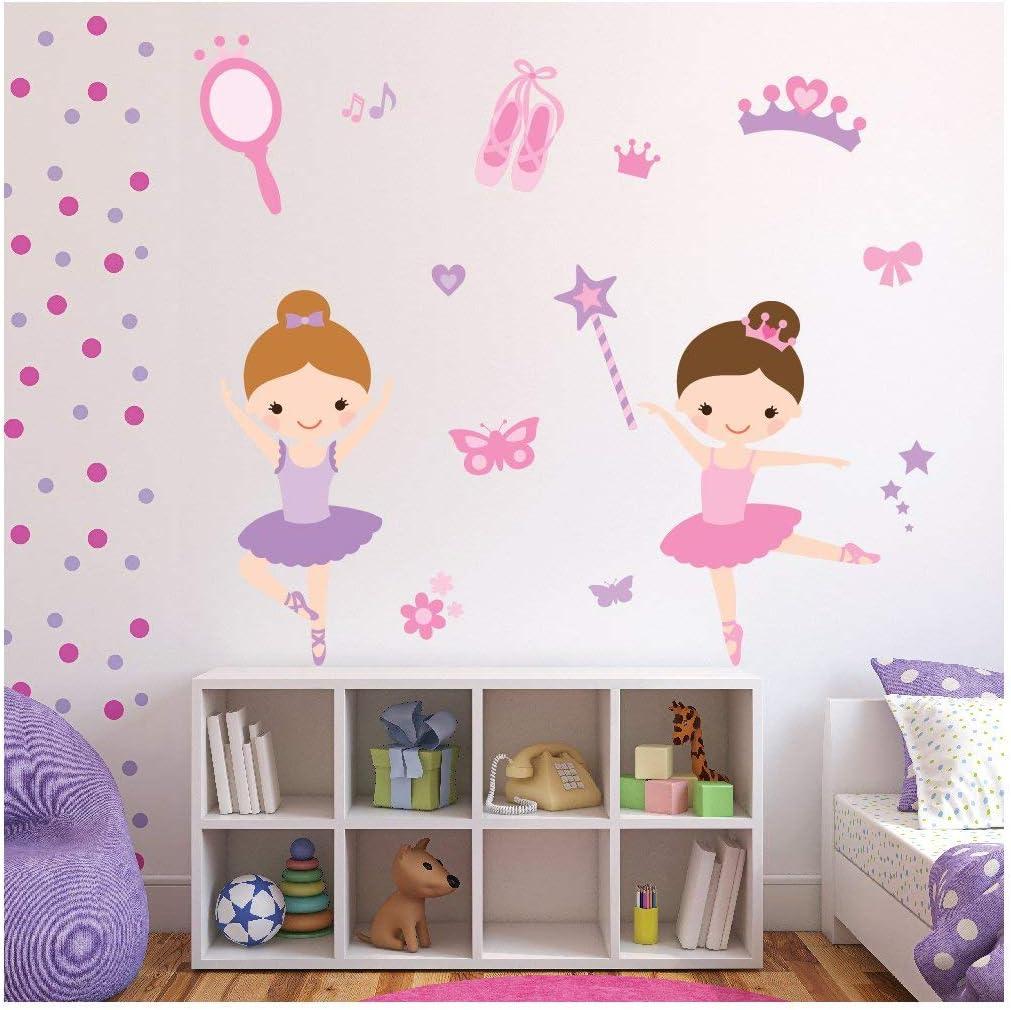 Ballerina Girls Wall Sticker Art Kids Room Boys Girls Decor GR115