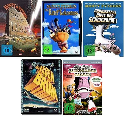 Monty Python Klassiker Collection - 5 Kultfilme im Set - Deutsche Originalware [5 DVDs]