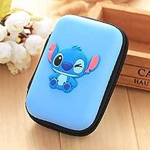 ZOEAST(TM) Mini Cartoon Coin Key Purse Case Earphone Line iPhone Data Cable Storage Bag Portable Headphone Box Packing (Rectangle Box, Stitch)