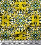 Soimoi Gelb Seide Stoff Fliesen marokkanisch Stoff