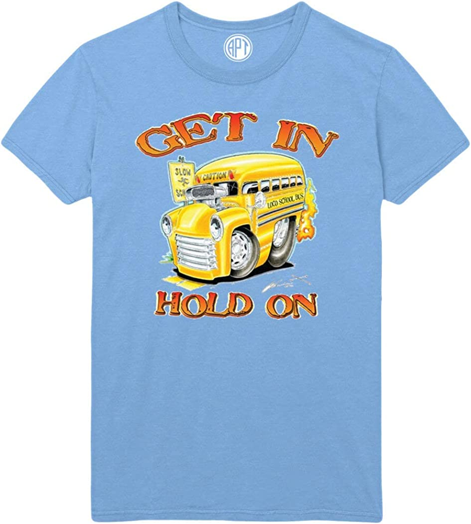 Get in Hold On Printed T-Shirt - Light-Blue - 2XLT