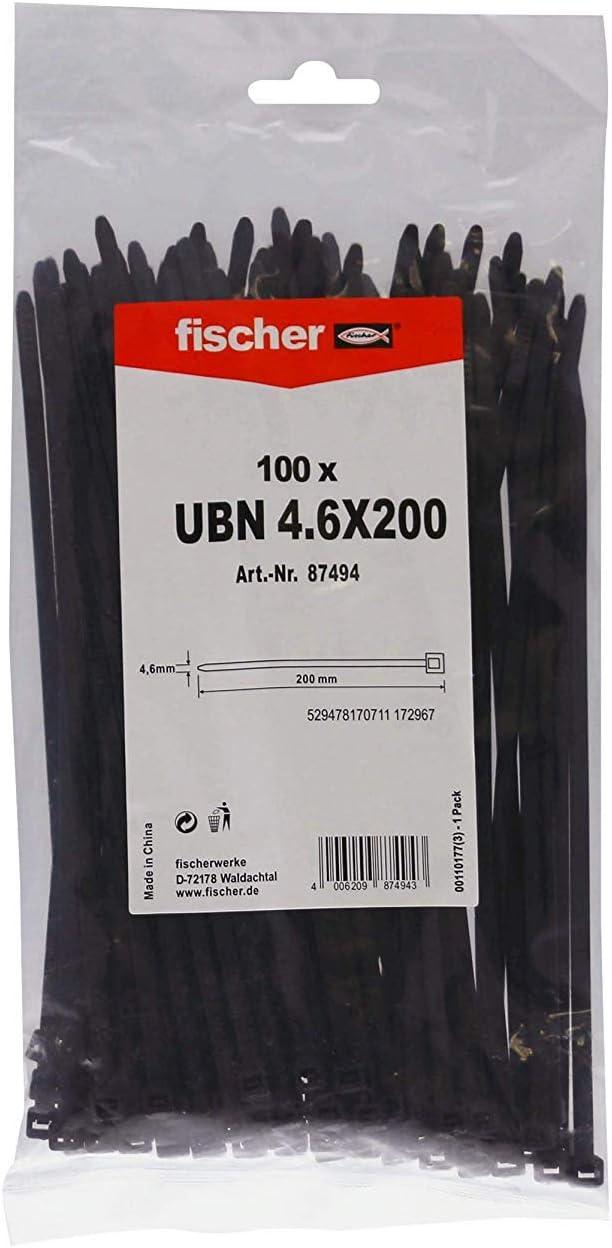 FISCHER 520597 Brida Kablefix Gbn 2,5X100 Verde // Bolsa Colgable Plata de 100 Uds