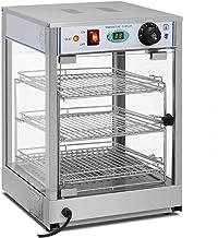 Royal Catering Vitrine Chauffante RCHT-850 (850 W, Température de chauffe 0-85°C, Dimensions du présentoir 29 x 30 x 3 cm,...