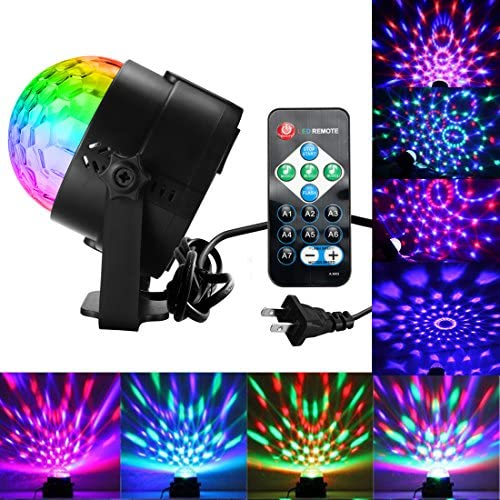 Disco Ball Lights Party Lights Dj Lights Sound Activated Party Lights with Remote Control DJ product image