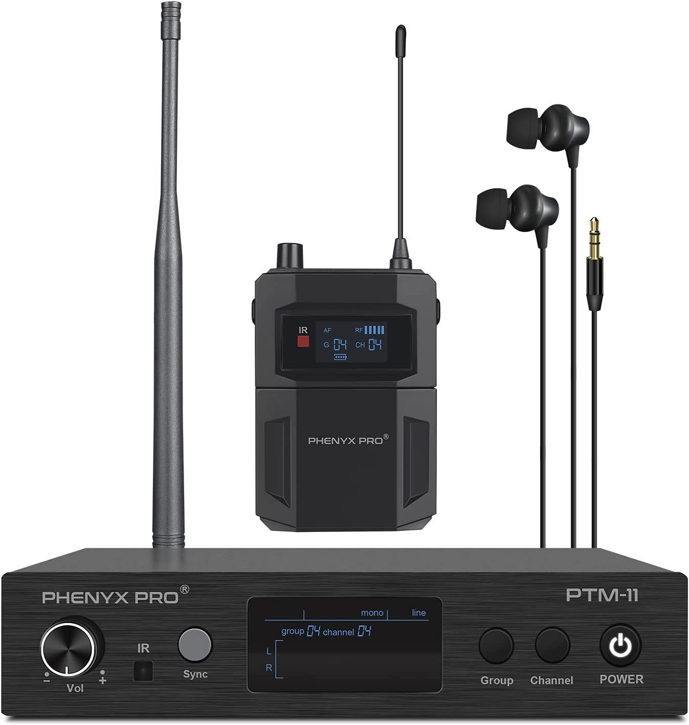 Phenyx Pro UHF Mono low-pricing Wireless System Monitor in-Ear Audio famous Metal