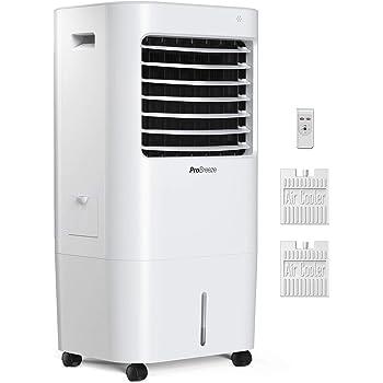 Pro Breeze Climatizador Evaporativo Portátil 10L con 4 Modos de Funcionamiento, 3 Velocidades de Ventilador, Pantalla LED y Control Remoto: Amazon.es: Hogar