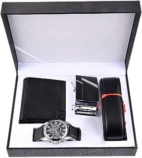 Birthday-Gift-for-Men Men-Gift-Set Watch Set for Men Artificial Leather Watch+Rachet..