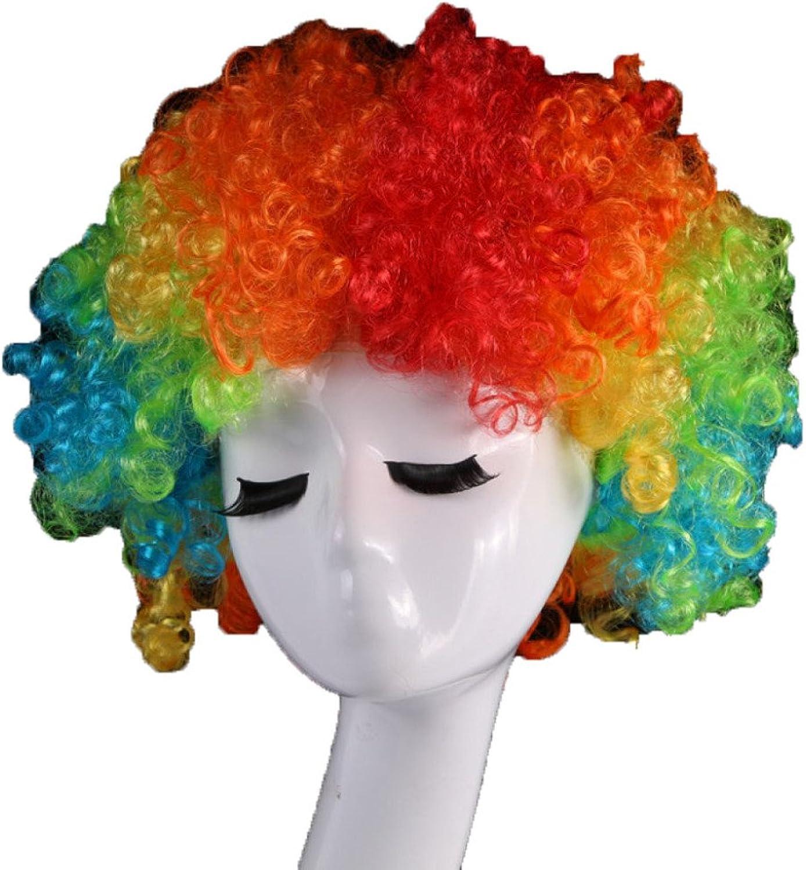 Wig Perücken Haarteile Perücken Cabaret Perücken Bob Farbe Explosion Kopf Perücke Party Clown Perücke 1 Pack 10,Farbe B07DSBC1SC Mode-Muster  | Roman