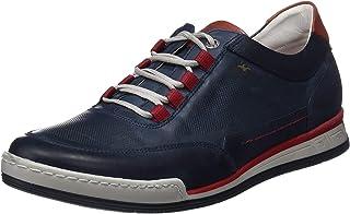 Fluchos | Zapato de Hombre | ETNA F0146 Habana Pl. Marino | Zapato de Piel | Cierre con Cordones | Piso TR