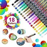 18 colores rotuladores de pintura acrílica rotuladores permanentes de colores rotuladores acrilicos permanentes pintura para tela,pintar piedras,metal, madera, vidrio,huevo de pascua,diy(0. 7mm)
