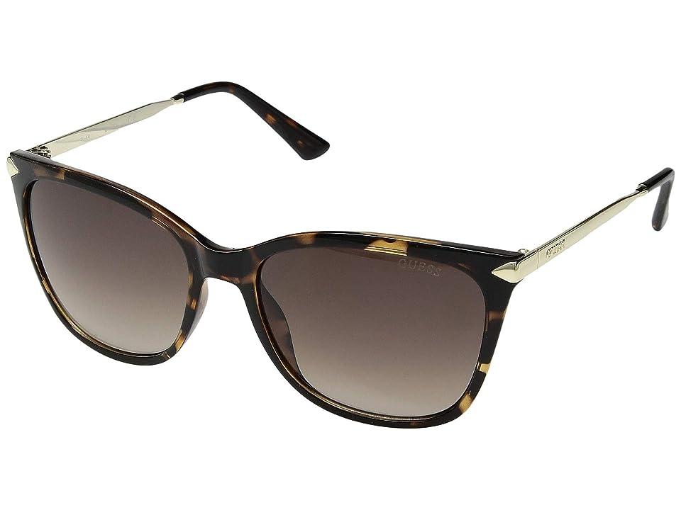 GUESS GU7483 (Dark Havana/Brown Mirror) Fashion Sunglasses