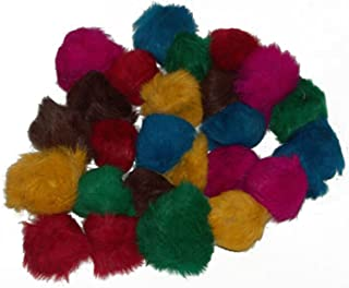 CoolCyberCats 24 Assorted Bat Around Fur Balls (2-2.5 inches Each) - Cat Toys