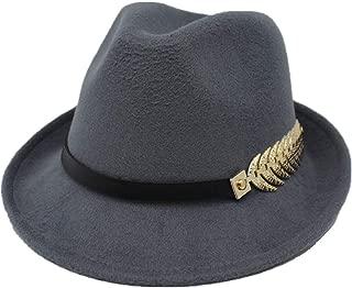 KKONION Fedora Hats Casual Jazz Brim Europe Style Foldable for Women /& Men Autumn Wool Panama Trilby Gentleman Hat