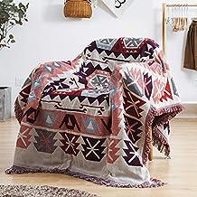ARIESDY Bohema pikowana narzuta, indyjska etniczna bawełna dwustronna narzuta na łóżko, gobelin, narzuta z nadrukiem, narz...