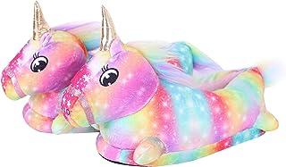 YAOMEI Unisex Unicornio Zapatillas de Casa para Niños Niñas Invierno Interior Pantuflas Caliente, 3D Novedad Zapatillas de...
